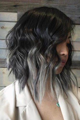 Blonde Ombre on Dark Hair