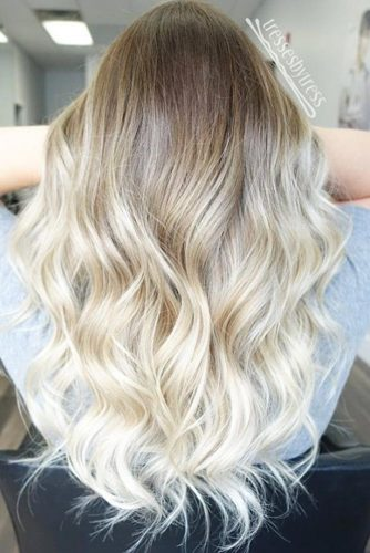 Blonde Ombre & Ash Ombre With Curly and Braid Ideas picture 5