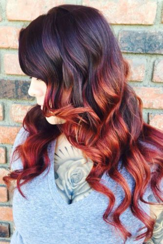 27 Best Red Ombre Hair Color Ideas for Long Hair