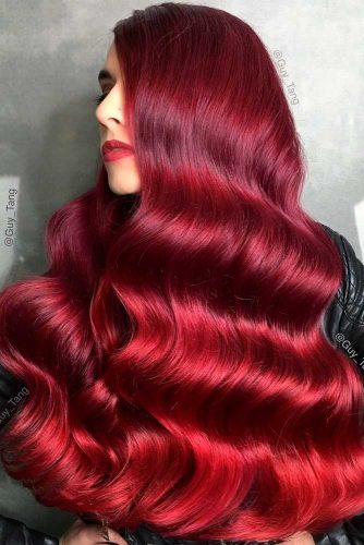 Hot Ombre Hairstyle With Red Shades #ombrehair #longhair #beautifulhairstyles