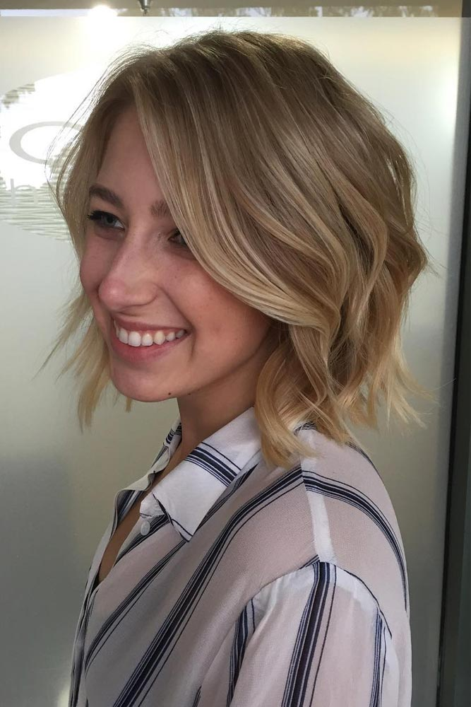 18 Sassy Short Hairstyles for Round Faces
