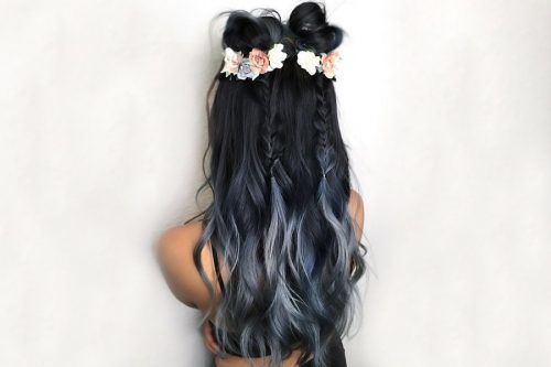 Fairy Blue Ombre Hair for Beautiful Girls