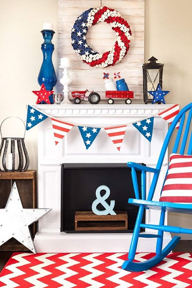 4th of July Shelf Decor picture 3