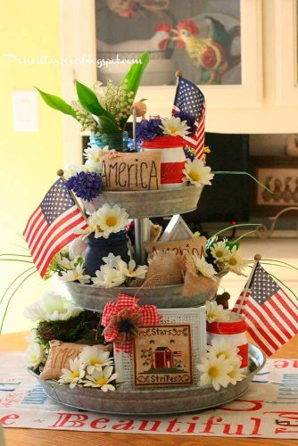 Red, White and Blue 4th of July Decorations picture 2