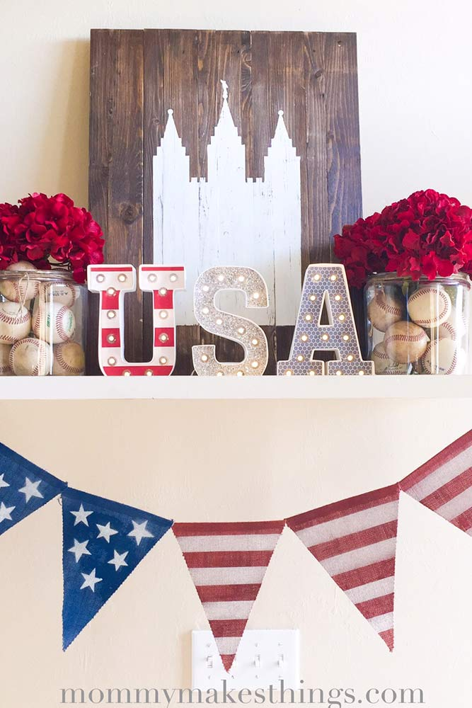 4th of July Shelf Decor picture 1