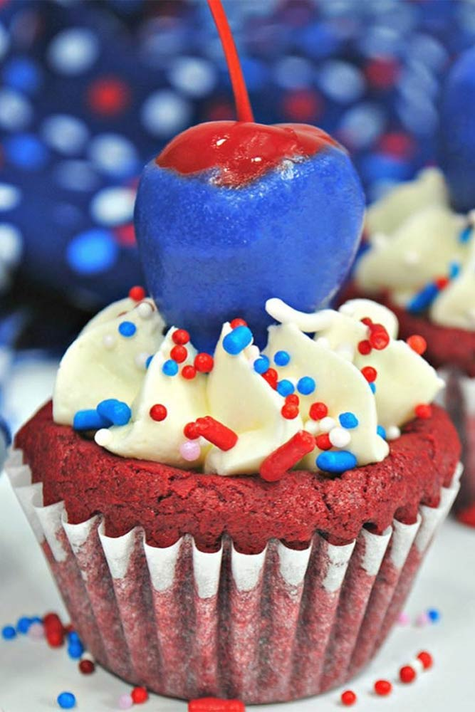 Cupcake Idea With Cherry #cherrycupcake