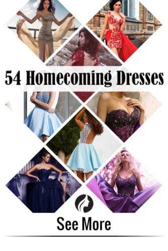 54 Most Beautiful Homecoming Dresses