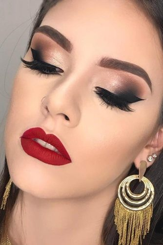 red dress eye makeup look