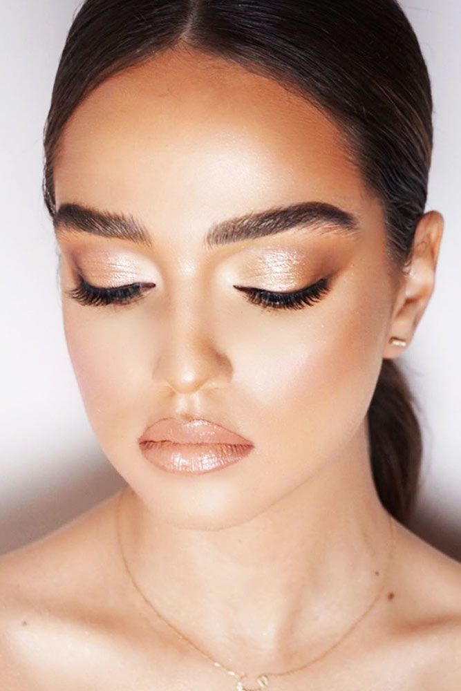 Soft Glitter With Natural Lipgloss #glittershadow