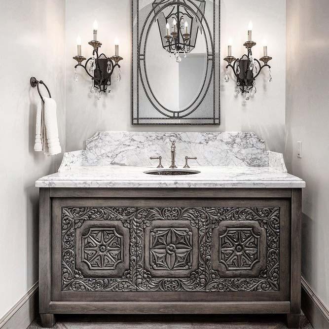 Antique Bathroom Vanity Design #antiquevanity