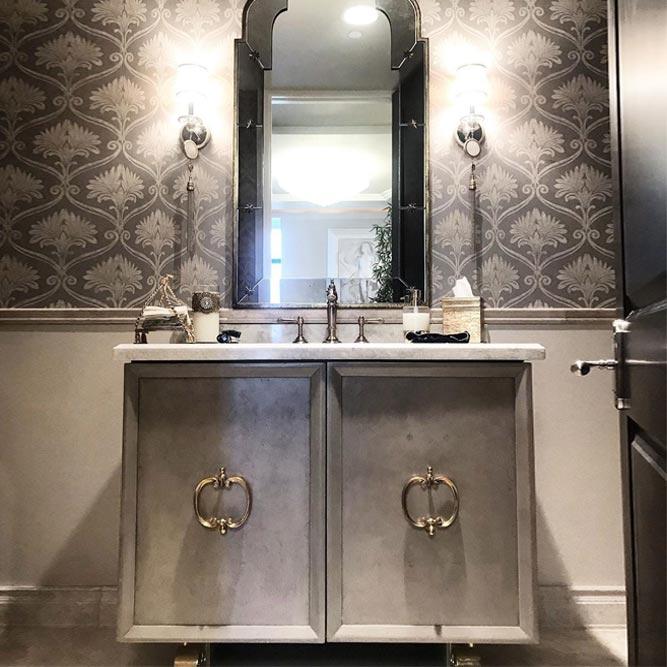 Clean Vanity Design With Vintage Accents #vintagevanity