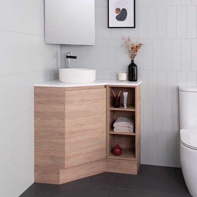 Modern Corner Vanity #modernvanity #cornervanity