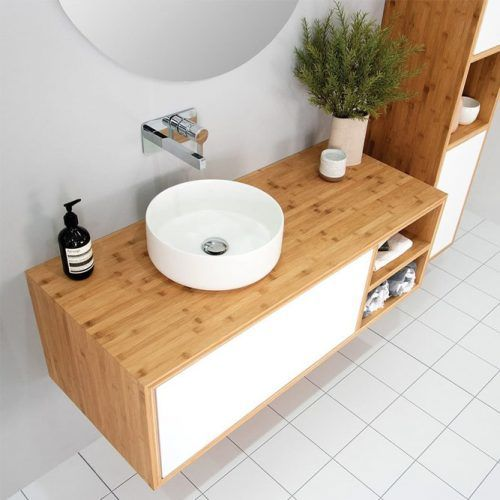 Modern Bamboo Vanity Design With Drawers #modern #woodenvanity