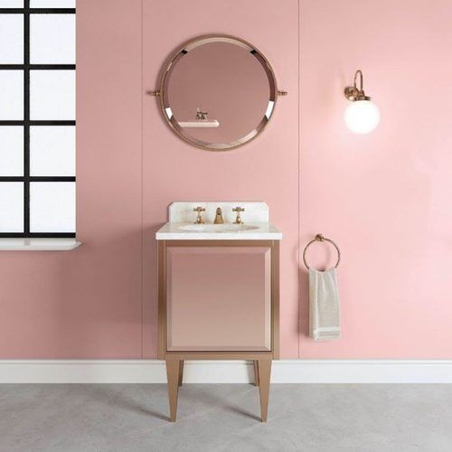 Compact Vanity In Pink Color #pinkvanity