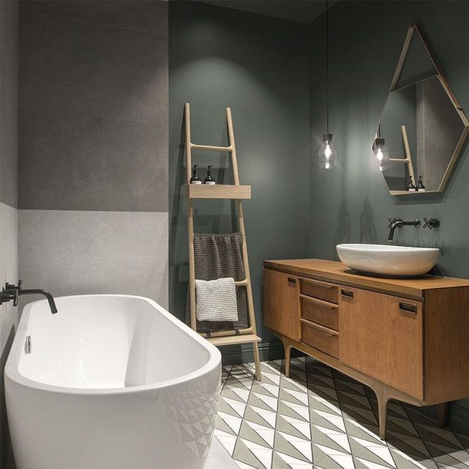 Traditional Wooden Bathroom Vanity #woodenvanity