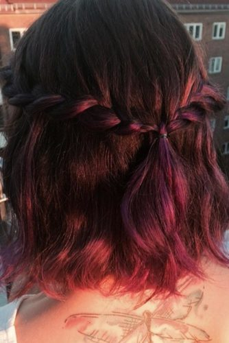 Half Updo for Short Hair picture 1
