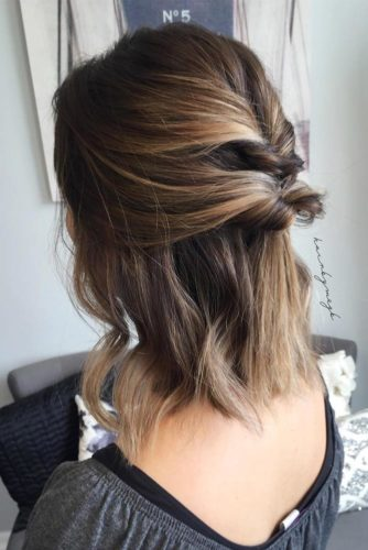Half Updo for Short Hair picture 3