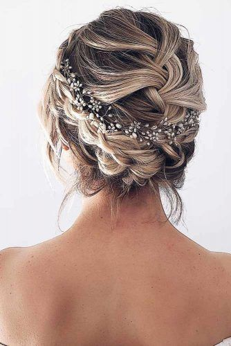 Headband Braided Updos For Short Hair #updo #braids #shorthair