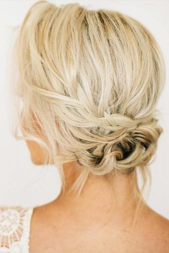 Braided Low Updos For Short Hair #updo #braids #shorthair