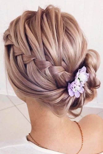 Lace Braided Updos For Short Hair #updo #braids #shorthair