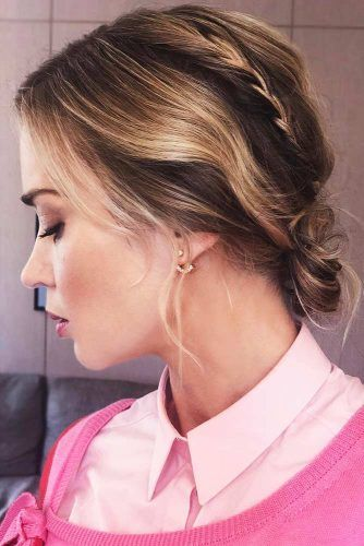 Braided Bun Updos For Short Hair #updo #braids #shorthair