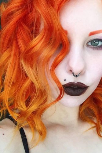 36 Charming Hairstyles for Red Ombre Hair