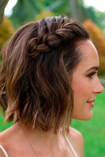 A-Line Cut with Side Braid