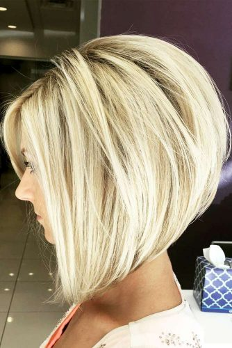 Exaggerated Angled Stacked Bob