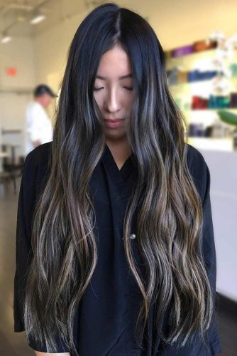 Black to Ombre Brown with Sun-Kissed Tips