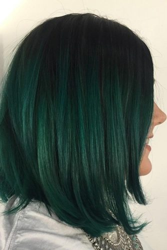 Emerald Green on Black Hair