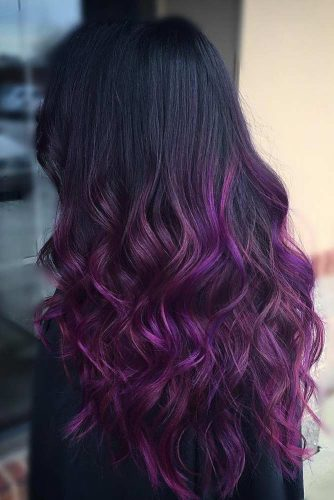 Purple and Black Ombre