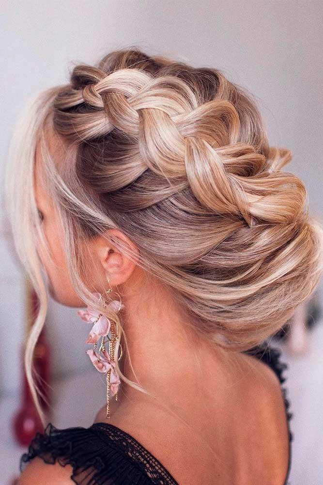 Trendiest Hairstyles for the Big Night #braidedupdo #braidedhairstyles