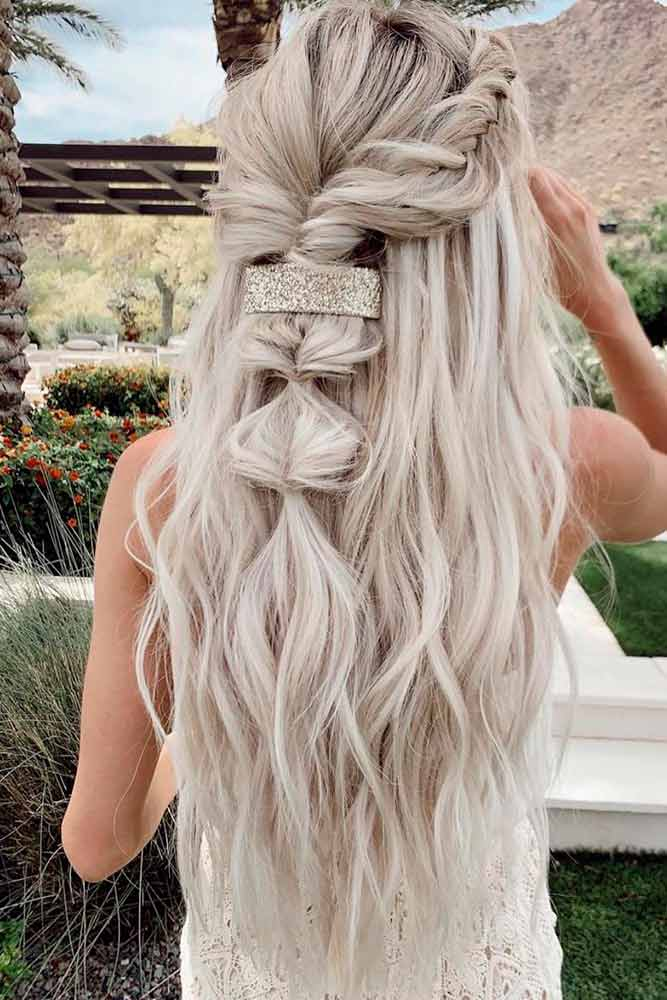 Twisted Half-Up #twistedhairstyles #longhairstyles