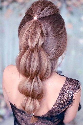 Puffy Braid #longhairstyles #prettyhairstyles