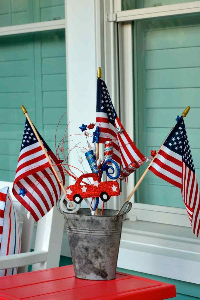 Funny Independence Day Decoration That Can Be Created With Children #independenceday