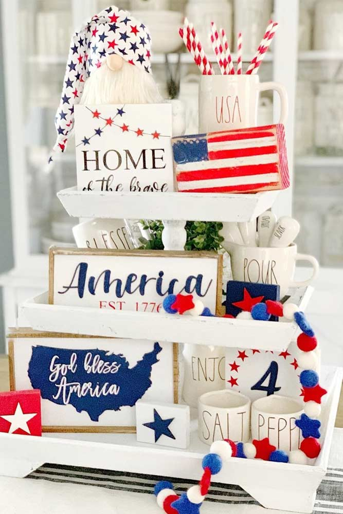 4th O July Centerpiece Idea #patrioticcenterpiece