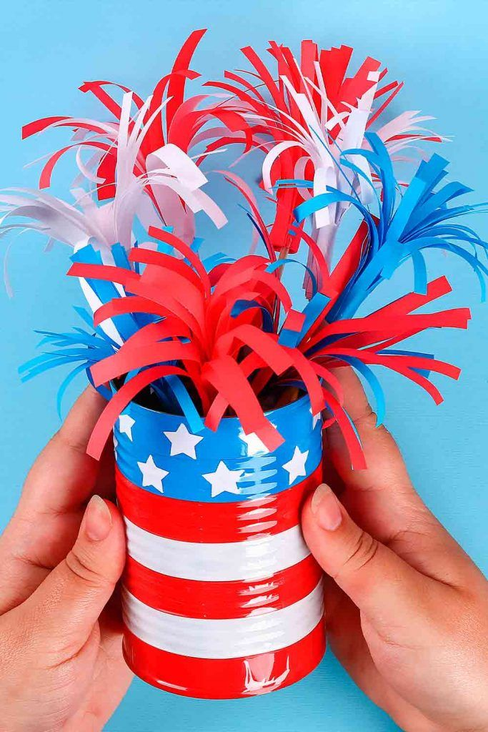 Independence Day Decoration That Can Be Created With Children #diydecor #creative