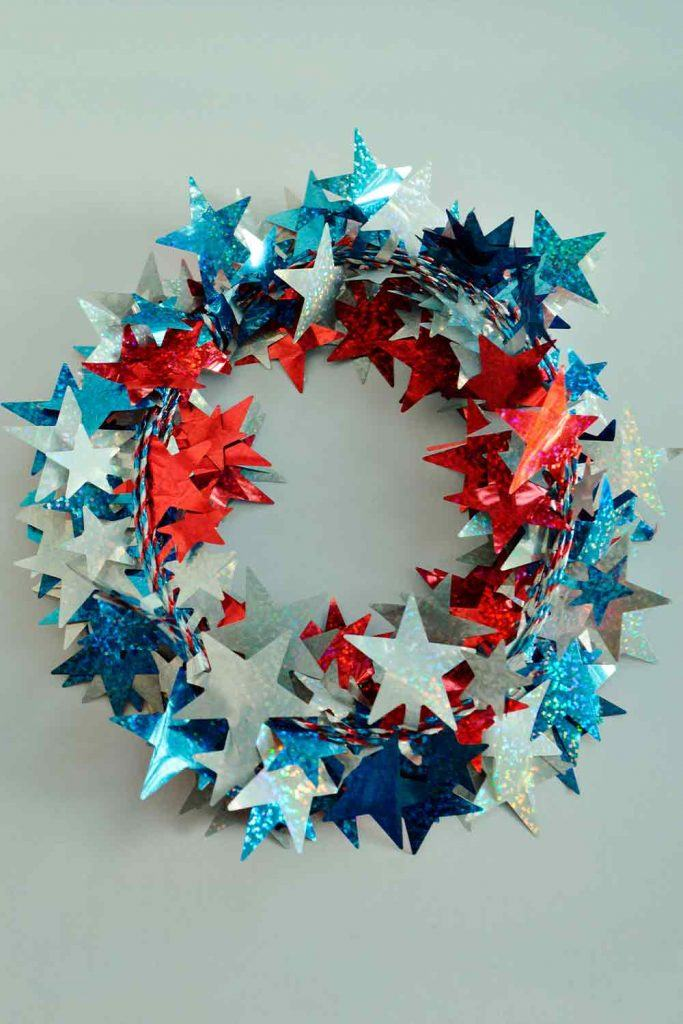 Patriotic Front Door Wreath #doorwreath   #outdoordecor
