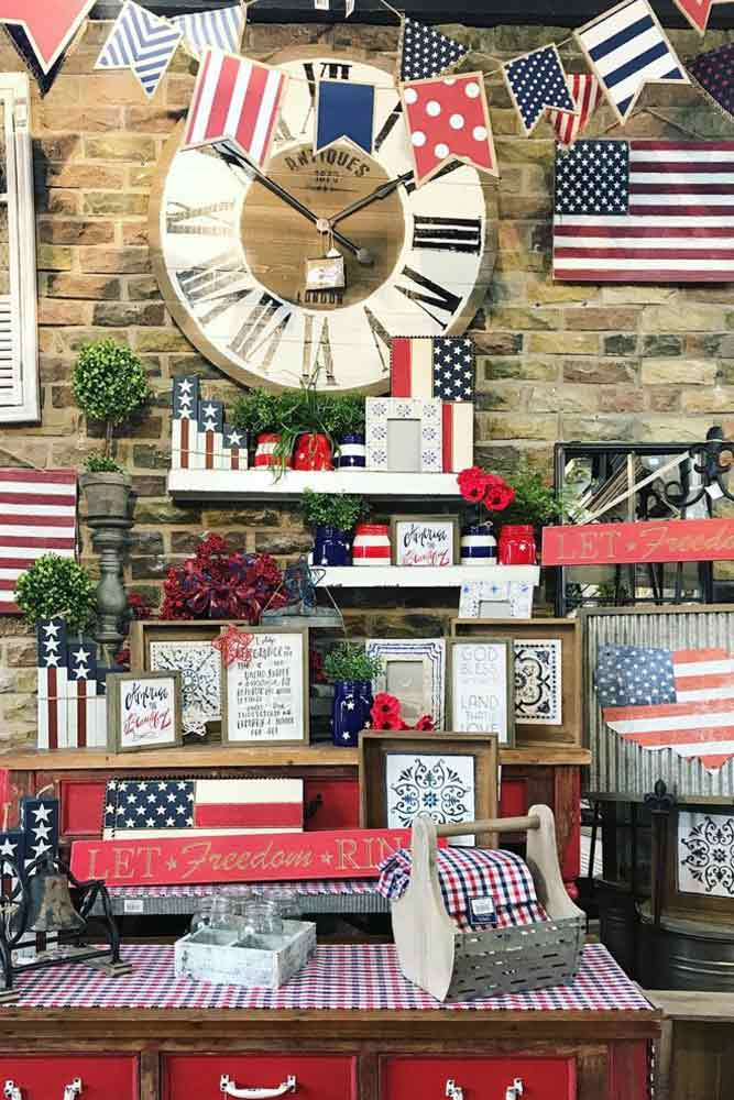 Rustic Outdoor Decorations For 4th Of July #rusticdecorations
