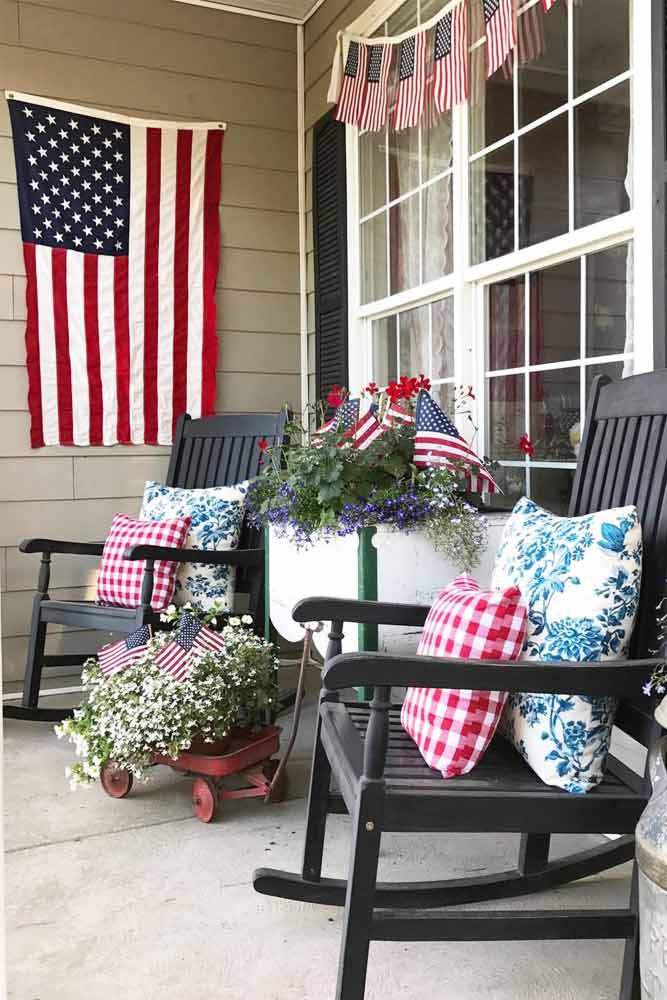 Outdoor Decorate Idea For 4th Of July #outdoordecorations
