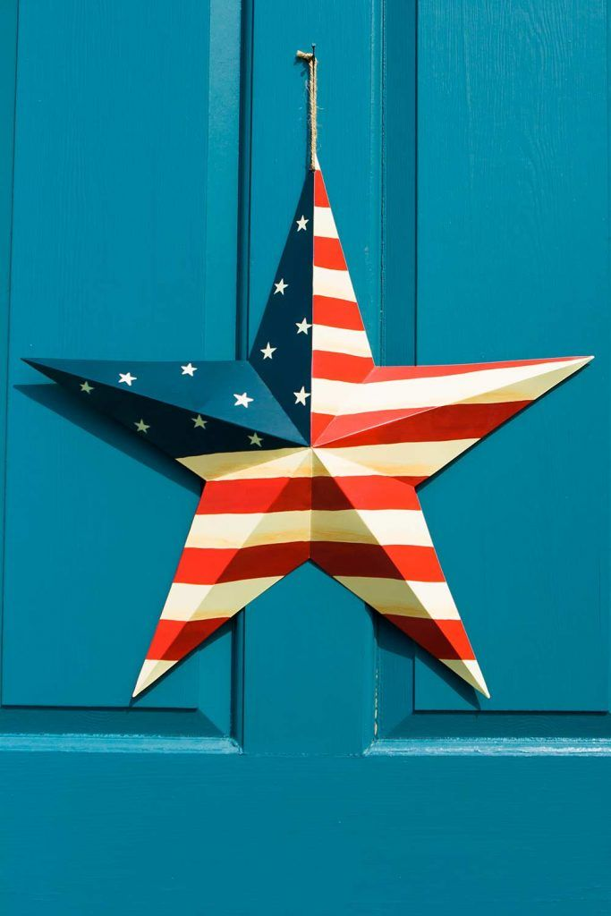 Patriotic Front Door Decoration With Star #usa #stars