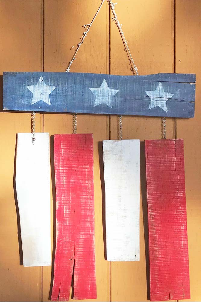 Wooden Flag Decor #patrioticdecor