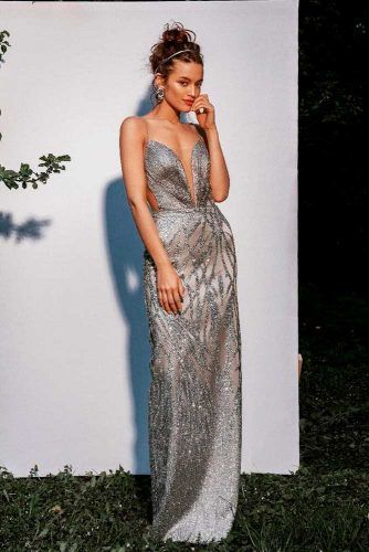 Long Silver Dress #silverdress #longdress