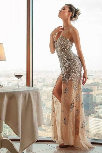 Nude Dress Design With Crystals #crystalsdress