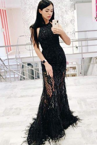 Black Maxi Mermaid Dress Design #maxidress #blackdress