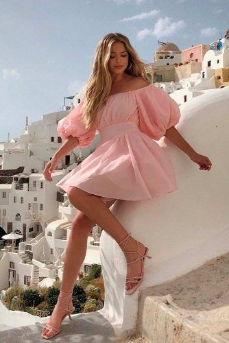 Pink Mini Summer Dresses #minidress #prettydress