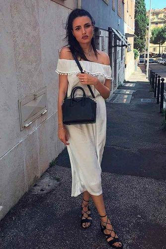 Simple White Summer Dress #casualdress #whitedress