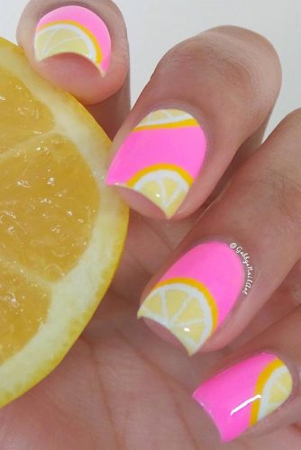 Lemonade Summer Nail Designs