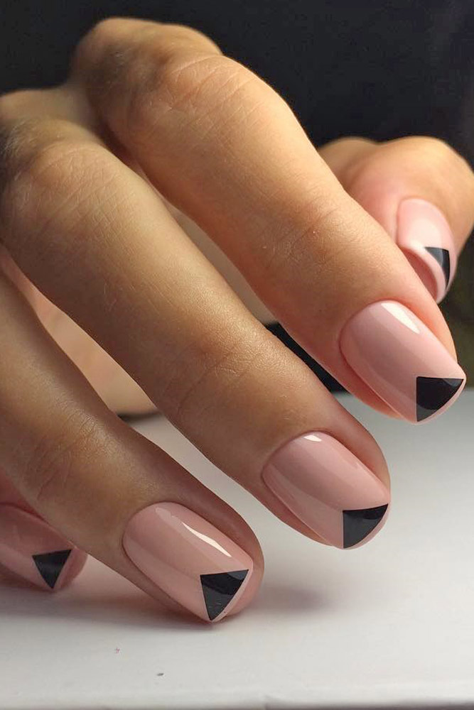 Easy Nail Designs With Triangle Tips