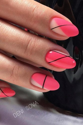 Hot Mix Summer Nails With Stripes
